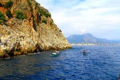 Вид на море в Турции Стоковые Фото