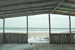 Вид на море зимы Стоковое Фото