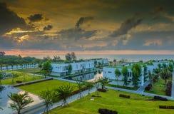 Вид на море курорта стоковое изображение rf