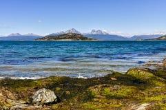 Вид на море, национальный парк Огненной Земли, Ushuaia, Аргентина Стоковая Фотография