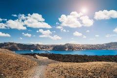 Вид на море на греческих островах Стоковые Изображения