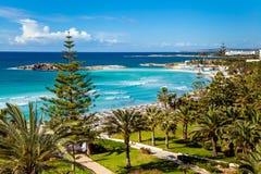 Вид на море на Кипре Стоковые Изображения
