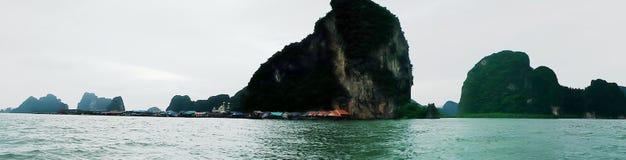 Вид на море на к югу от Таиланде Стоковая Фотография RF