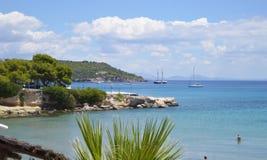Вид на море на острове Aegina в Греции Стоковое Изображение
