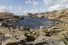 Вид на море на Lindesnes, Норвегии Стоковые Изображения