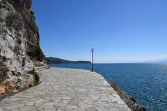 Вид на море на Nafplio, Греции Стоковые Фото