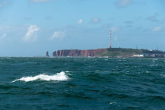 Вид на море острова heligoland Стоковая Фотография