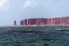 Вид на море острова heligoland Стоковые Изображения RF