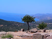 Вид на море от виска Афины Стоковые Фотографии RF