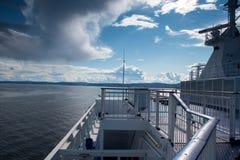 Вид на море от парома Стоковая Фотография RF