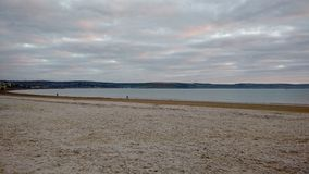 Вид на море от песчаного пляжа Стоковые Изображения RF