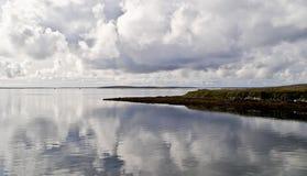 Вид на море от побережья Стоковое Изображение