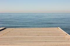 Вид на море от прогулки Стоковые Фото