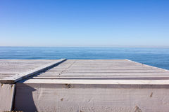 Вид на море от прогулки Стоковое Изображение RF