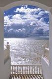 Вид на море от террасы Стоковое Фото