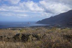 Вид на море долины El Golfo Стоковое Изображение RF