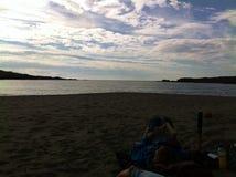 Вид на море пляжа Глена Стоковое Фото