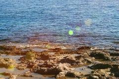 Вид на море Родоса Стоковые Изображения RF