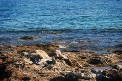 Вид на море Родоса Стоковые Фотографии RF
