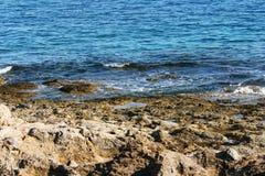 Вид на море Родоса Стоковые Изображения