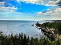 Вид на море руин замка Сент-Эндрюса, Шотландия Стоковая Фотография