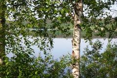 Вид на озеро в временени Стоковые Изображения