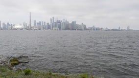 Вид на озеро Торонто городской акции видеоматериалы