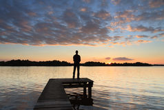 Вид на озеро Стоковая Фотография RF