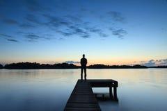 Вид на озеро Стоковые Фото