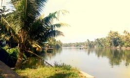 Вид на озеро Alappuzha Стоковые Фотографии RF