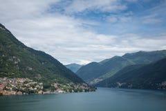 Вид на озеро Como Стоковые Фото