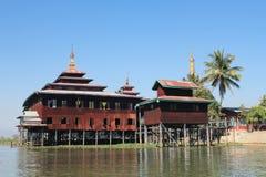Вид на озеро Inle в Мьянме Стоковые Фотографии RF