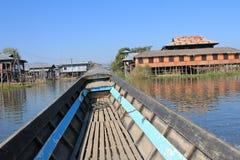 Вид на озеро Inle в Мьянме Стоковая Фотография