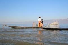 Вид на озеро Inle в Мьянме Стоковое Изображение RF