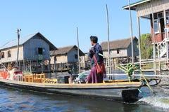 Вид на озеро Inle в Мьянме Стоковые Фото