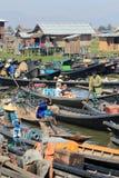 Вид на озеро Inle в Мьянме Стоковое Изображение