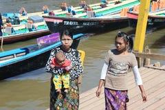Вид на озеро Inle в Мьянме Стоковая Фотография RF