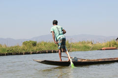 Вид на озеро Inle в Мьянме Стоковые Изображения RF