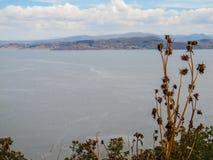 Вид на озеро Titicaca от острова Taquile Стоковое Фото