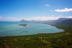 Вид на океан в Маврикии Стоковые Фото