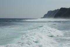 Вид на океан от пристани стоковая фотография