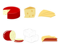 6 видов сыра Стоковые Изображения