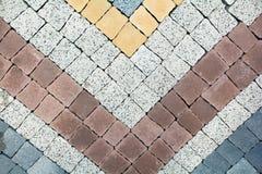 Вид предпосылки вымощенных блоков, красиво Стоковые Фото