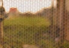 Вид решетки на предпосылке нерезкости Стоковая Фотография RF
