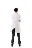 Вид сзади азиатского медицинского доктора стоковое изображение rf