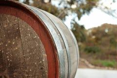 Вид сзади бочонка вина Стоковое фото RF
