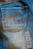 Вид сзади джинсов карманное Стоковая Фотография