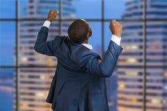 Вид сзади успешного бизнесмена Стоковые Изображения RF