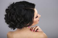 Вид сзади coiffure Стоковые Изображения RF