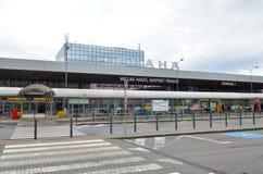 Вид спереди авиапорта Праги Vaclav Havel Стоковая Фотография